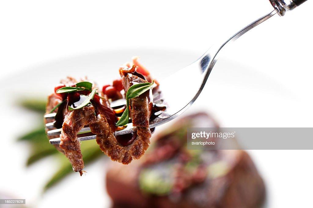 Piece of a grilled steak