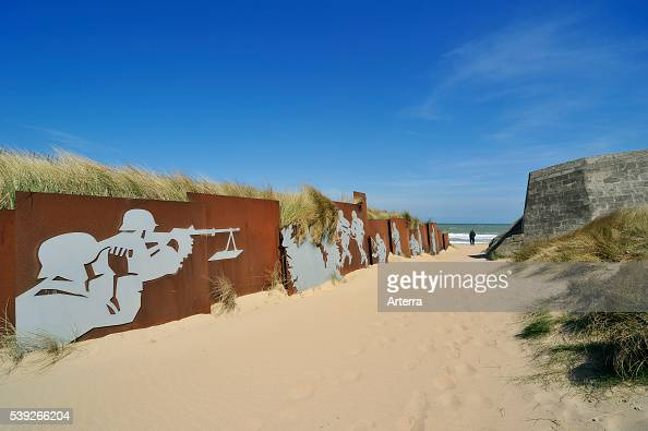 piece-of-art-and-the-bunker-cosys-pillbox-at-juno-beach-normandy ...