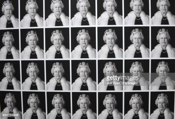 A piece of artwork by Artist Chris Levine as he presents his ground breaking complete series of Royal 3D and light based portraits of Queen Elizabeth...
