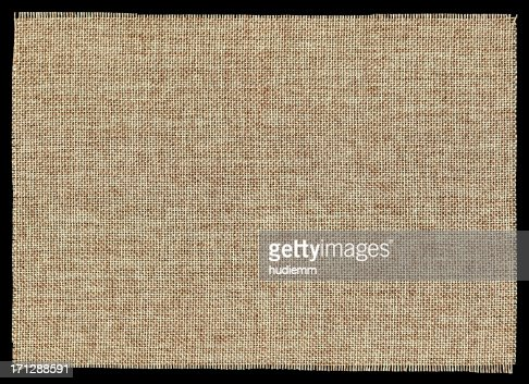 Piece of Burlap background textured isolated