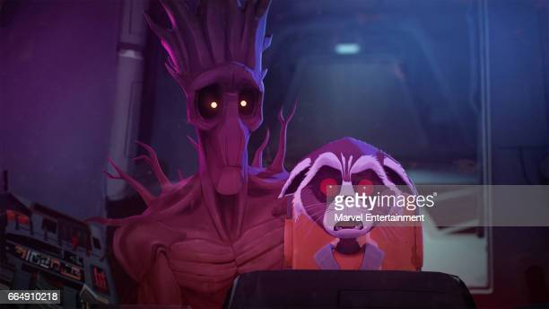 S ROCKET GROOT 'A Piece of Cake' Based on a design by famed comic book artist Skottie Young and animated by 2017 Oscarnominated Passion Pictures the...