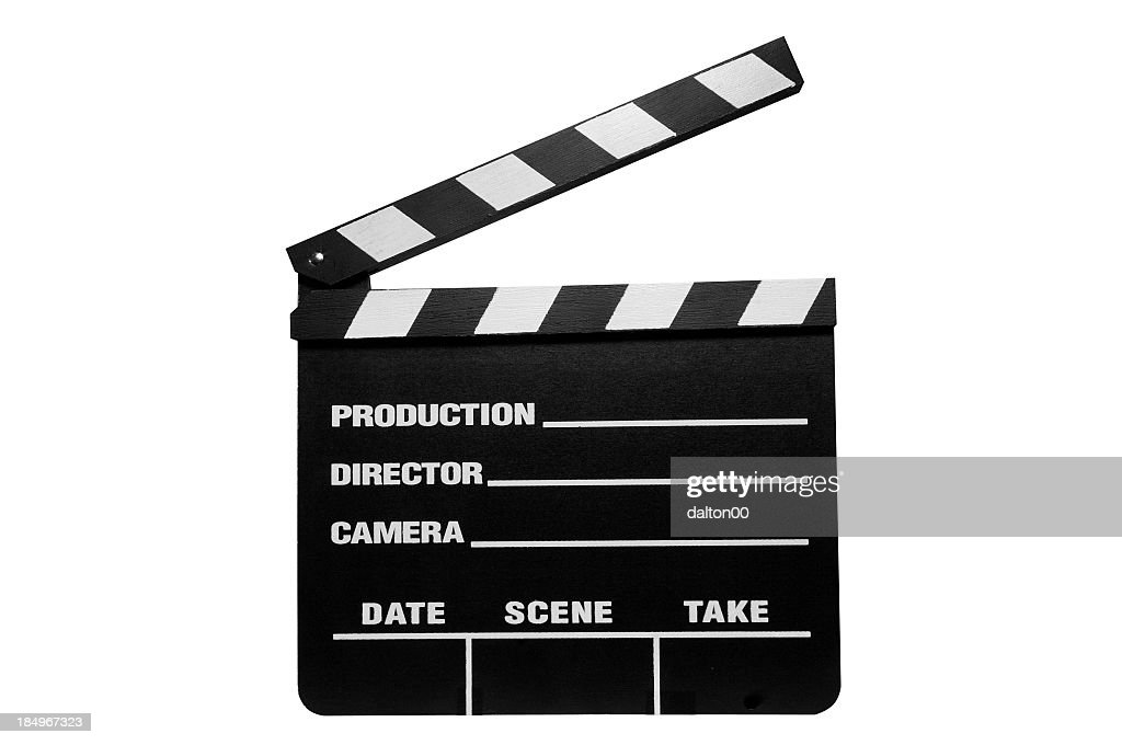 Piece of directing equipment that signifies action and cut