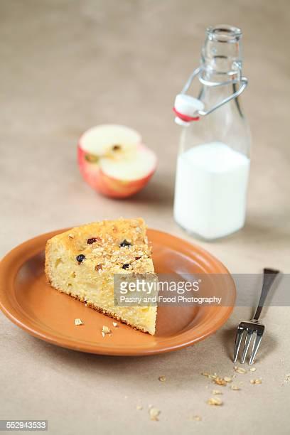 Piece of Rustic Fruit Cake