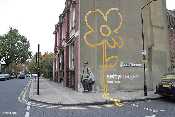 A piece of street art has appeared in East London on October 31 2007 in London England It carries all the trademarks of artist Banksy