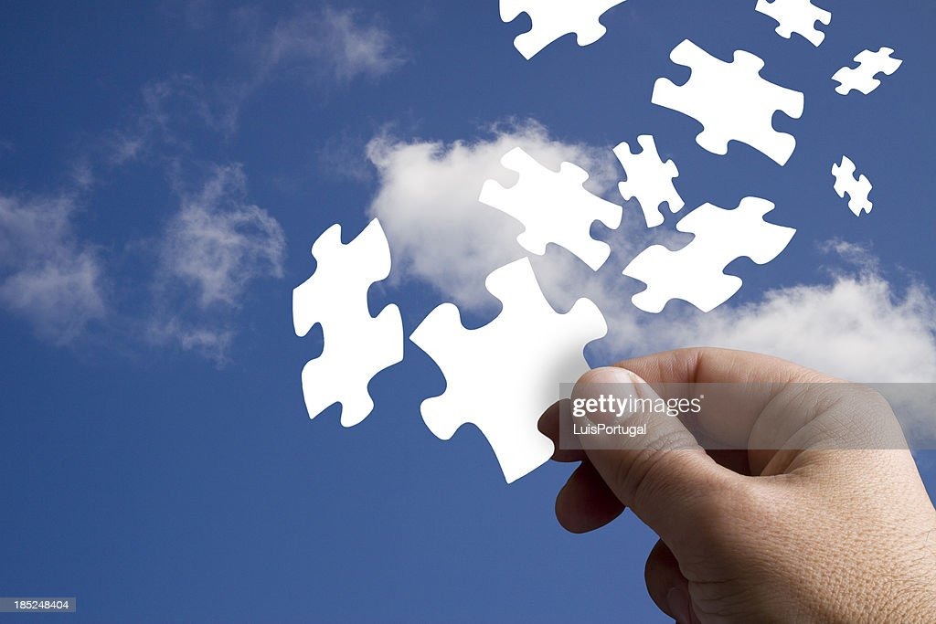Piece of the Jigsaw : Stock Photo