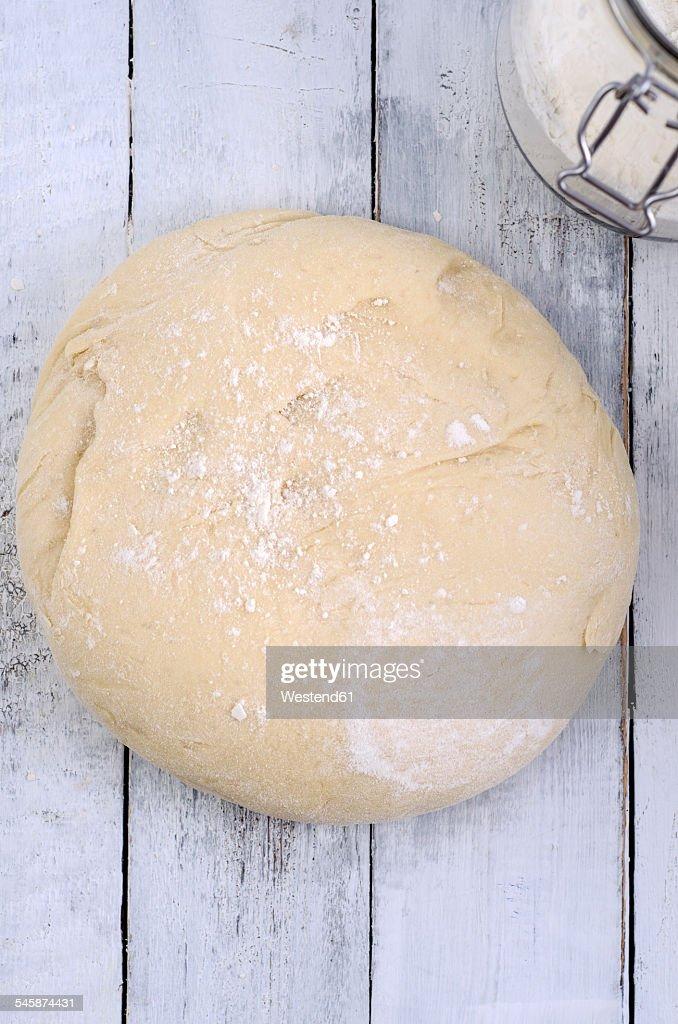 Piece of yeast dough
