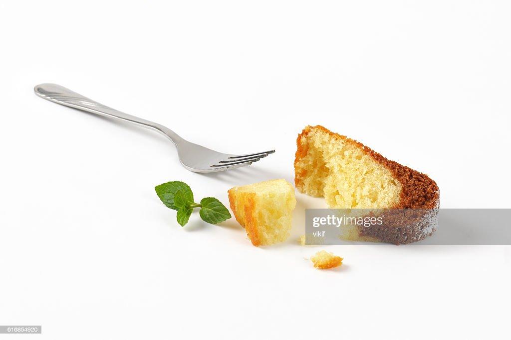 pieces of marble bundt cake : Stock Photo