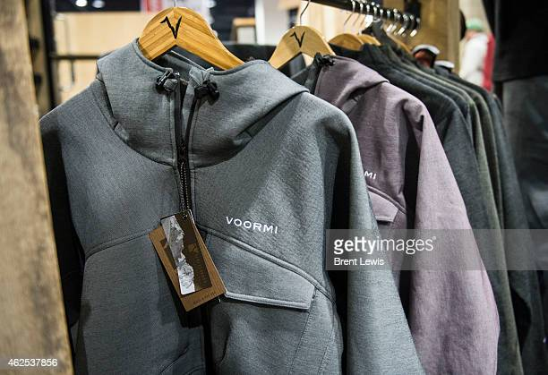Pieces of the outerwear that is created by Voormi during the SIA Snow Show on Friday January 30 2015 at the Colorado Convention Center in Denver...