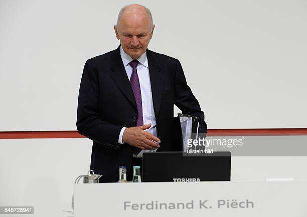 Piech Ferdinand Manager Austria Chairman of the Board of Volkswagen AG during general meeting of Audi AG in Ingolstadt Germany