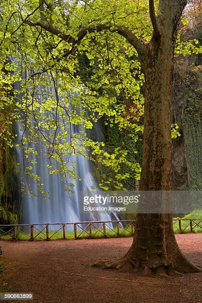 Piedra River Monasterio de Piedra Waterfall Nuevalos Zaragoza province Aragon Spain
