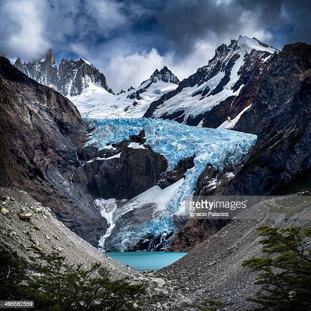 Piedras Blancas lookout and glacier