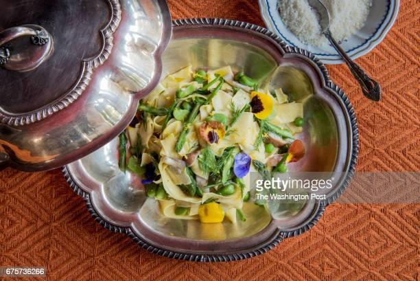 Piemontese 40 yolk handcut pappardelle primavera at Sfoglina