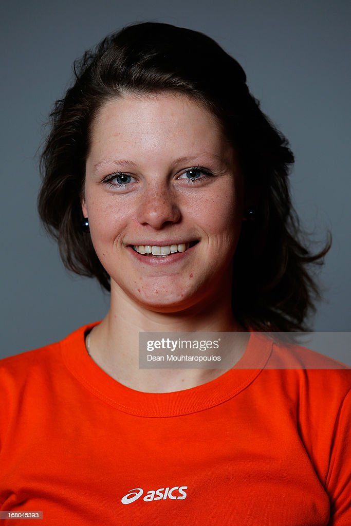 Pien Keulstra, poses during the NOC*NSF (Nederlands Olympisch Comite * Nederlandse Sport Federatie) Sochi athletes and officials photo shoot for Asics at the Spoorwegmuseum on May 4, 2013 in Utrecht, Netherlands.