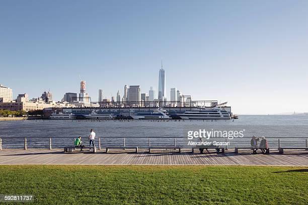 Pier 45 at Hudson River Park, New York City, USA