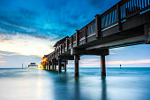 Pier 60 landmark of Clearwater Beach Florida at sunset