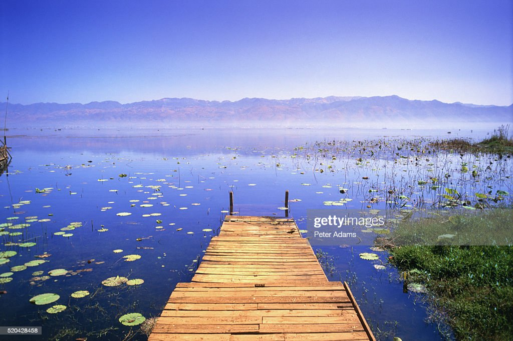 Pier at Inle Lake, Myanmar : Stock Photo