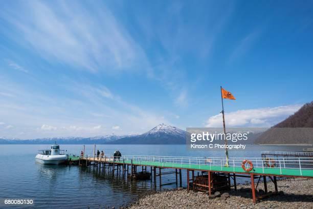Pier at Lake Shikotsu, Chitose, Hokkaido, Japan