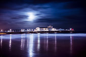 Nightscape of the pier in Bournemouth, Dorset.