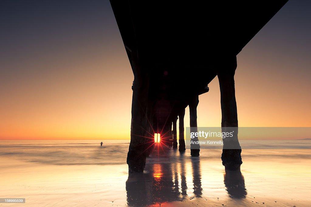 Pier at Sunset : Stock Photo
