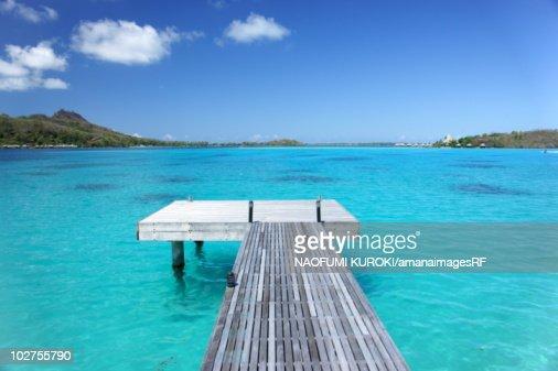 Pier, Bora Bora Island, Tahiti : Stock-Foto