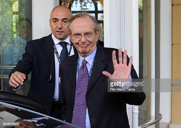 Pier Carlo Padoan attends the Ambrosetti International Economy Forum at Villa d'Este Hotel on September 7 2014 in Como Italy 'Intelligence on the...