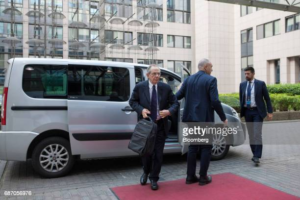 Pier Carlo Padoan Italy's finance minister arrives for an Ecofin meeting of European Union finance ministers in Brussels Belgium on Tuesday May 23...