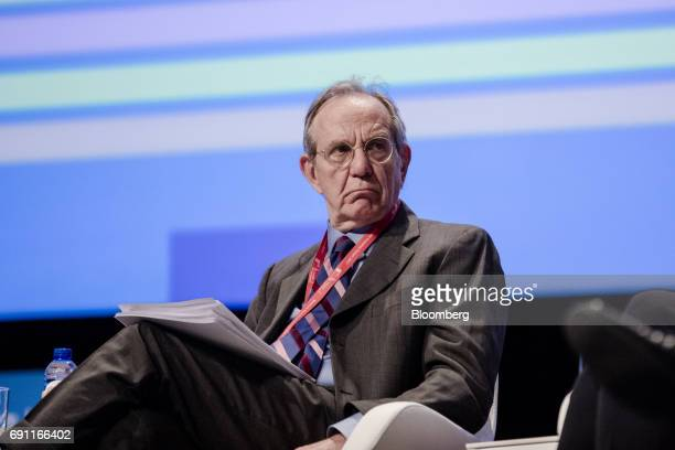 Pier Carlo Padoan Italy's finance minister looks on during the Brussels Economic Forum in Brussels Belgium on Thursday June 1 2017 It may take the UK...