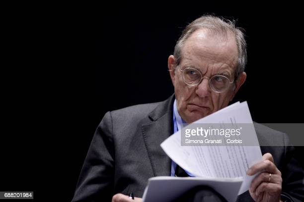 Pier Carlo Padoan Minister of Economy and Finance participates in the conference 'Digital Tax Innovation' during the PA 2017 Public Administration...