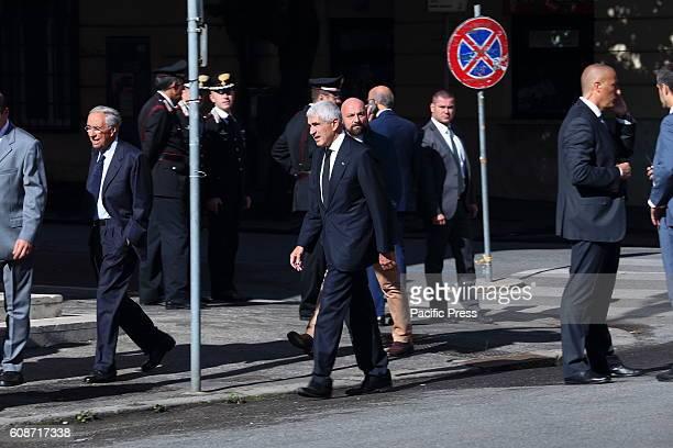 Pier Ferdinando Casini arrives at the funeral of Ciampi Funeral in private of President Emeritus of the Republic Carlo Azeglio Ciampi who died last...