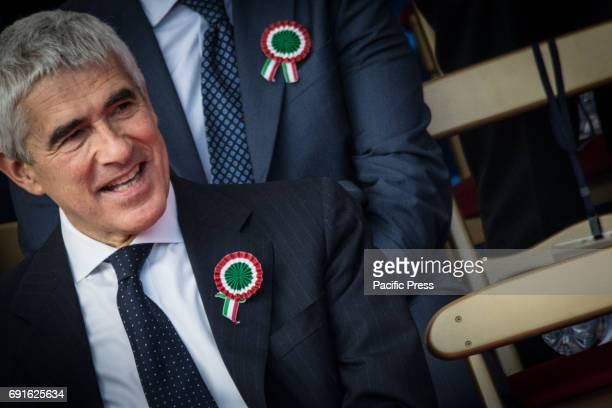 Pier Ferdinando Casini attended the military parade for the celebration of the 71st anniversary of the Italian Republic
