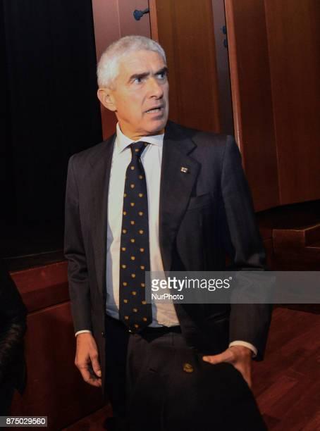 Pier Ferdinando Casini during presentation of the book 'Quando' by Walter Veltroni at Auditorium Rome on november 16 2017