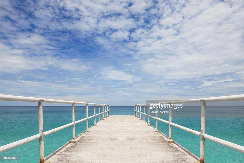 Pier, leading out to sea, Perhentian Islands