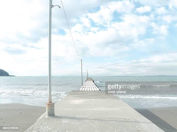 Pier of Tomiura Haraoka beach