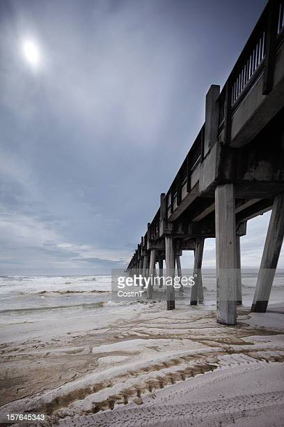 Pier on the beach in Pensacola, Florida.
