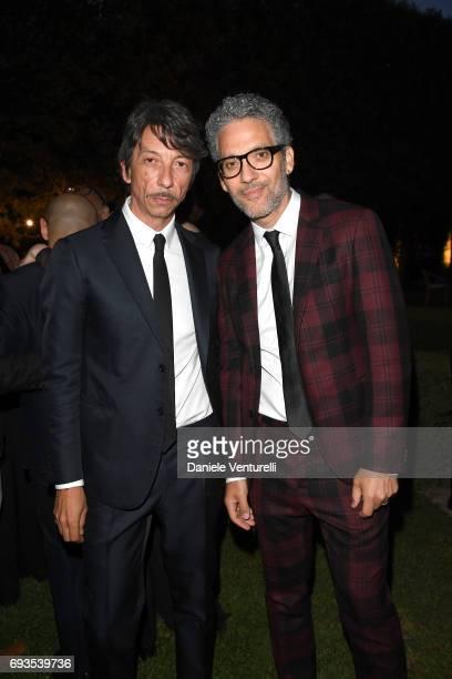 Pier Paolo Piccioli and Beppe Fiorello attend McKim Medal Gala at Villa Aurelia on June 7 2017 in Rome Italy
