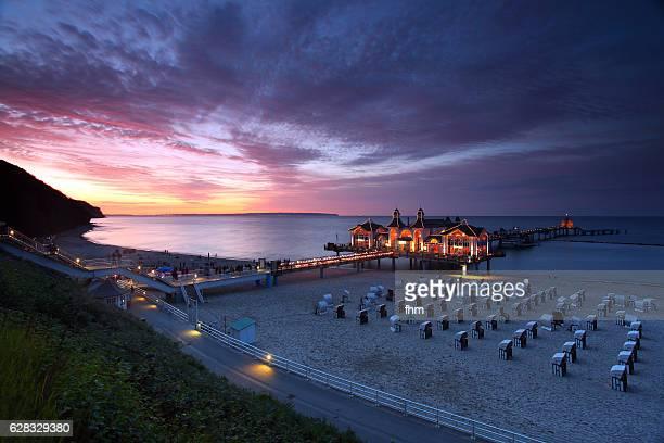 Pier Sellin at sunset (Rügen Island/ Mecklenburg -Vorpommern/ Germany)