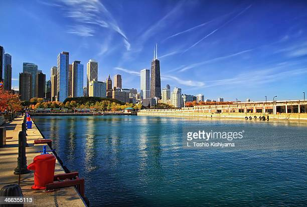 Pier Side View of Chicago, Illinois
