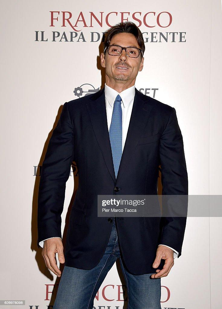 Pier Silvio Berlusconi attends 'Francesco, Il Papa della Gente' TV show presentation at cinema Odeon on December 1, 2016 in Milan, Italy.