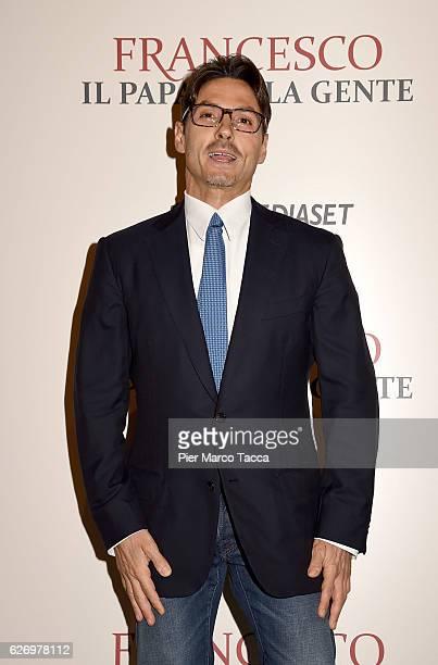Pier Silvio Berlusconi attends 'Francesco Il Papa della Gente' TV show presentation at cinema Odeon on December 1 2016 in Milan Italy