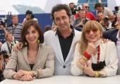 Piera Degli Esposti Paolo Sorrentino and Anna Bonaiuto attend the Il Divo Photocall at the Palais des Festivals during the 61st International Cannes...