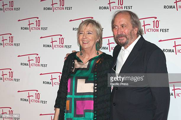 Piera Detassis and Giuseppe Piccioni attend the Opening Ceremony of Roma Fiction Fest 2016