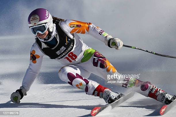 Piera Hudson of New Zealand competes in the Super G Able body Adaptive on day 15 of the Winter Games NZ at Mt Hutt on August 27 2011 in Christchurch...