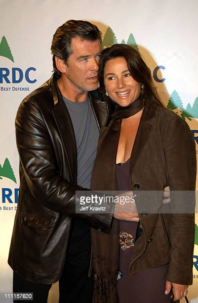 Pierce Brosna Keely Shaye Smith during NRDC Rolling Stones Free Concert at Staples Center in Los Angeles CA United States