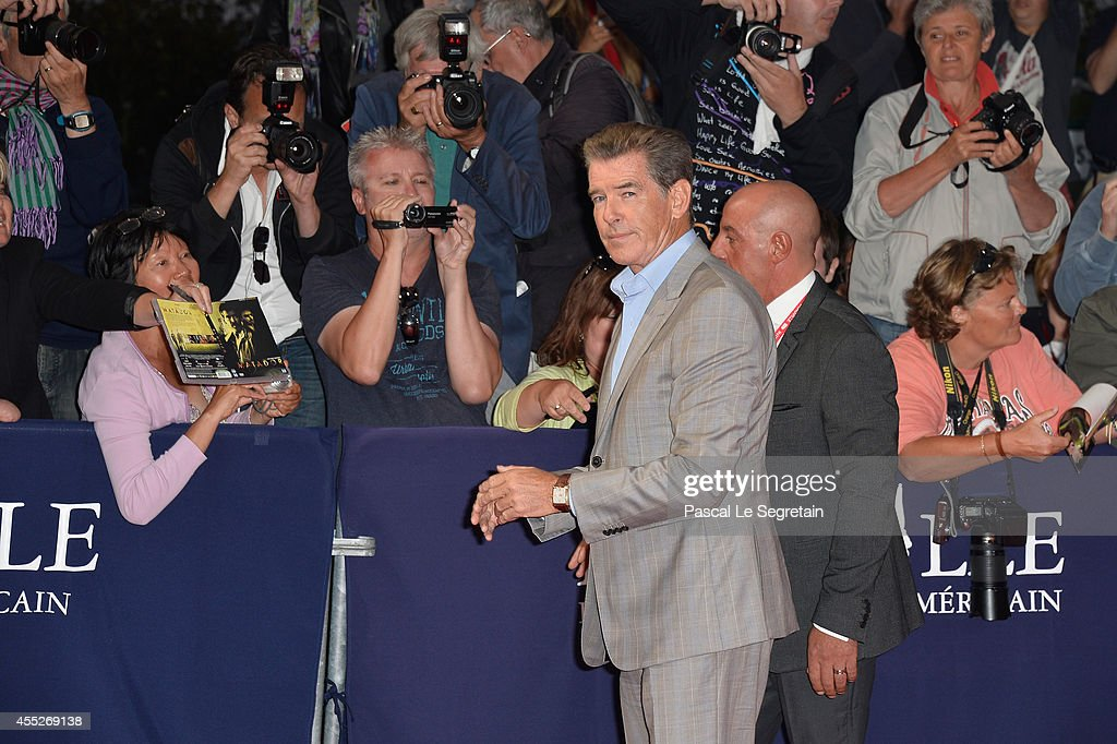 Pierce Brosnam attends 'The November Man' premiere on September 11 2014 in Deauville France