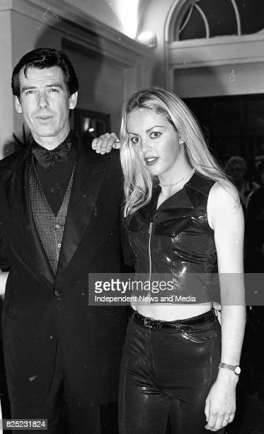 Pierce Brosnan and exBond girl Alison Doody at the Reception in the Gresham Hotel for his new James Bond movie Golden Eye