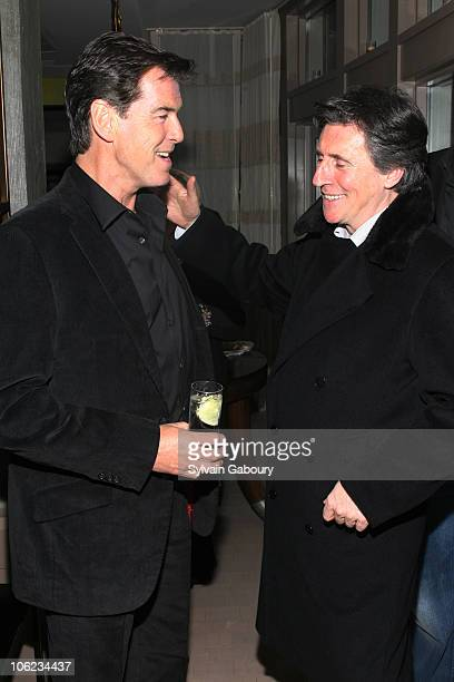 Pierce Brosnan and Gabriel Byrne during 'Seraphim Falls' After Party Hosted by The Cinema Society at Soho Grand Penthouse at 310 West Broadway in New...