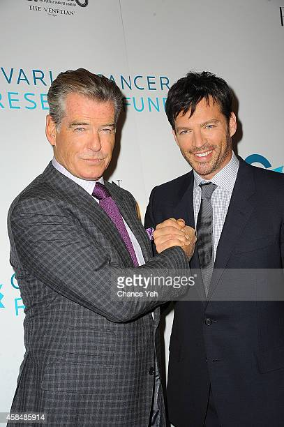 Pierce Brosnan and Harry Connick Jr attend 2014 Ovarian Cancer Research Fund's Legends Gala at The Pierre Hotel on November 5 2014 in New York City