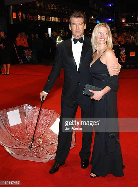 Pierce Brosnan and his daughter Charlotte during The Orange British Academy Film Awards 2006 Outside Arrivals at Odeon Leicester Square in London...