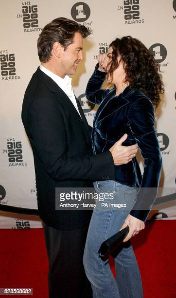 Pierce Brosnan and Julianna Margulies arrive at the VH1 Big In 2002 Awards at the Olympic Auditorium Los Angeles