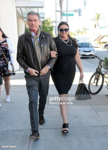 Pierce Brosnan and Keely Shaye Smith are seen on February 23 2017 in Los Angeles California